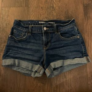Old navy blue denim boyfriend shorts